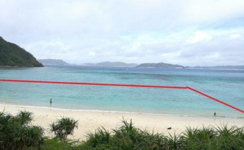 渡嘉敷島のとかしくビーチのウミガメに会えるシュノーケリングスポット