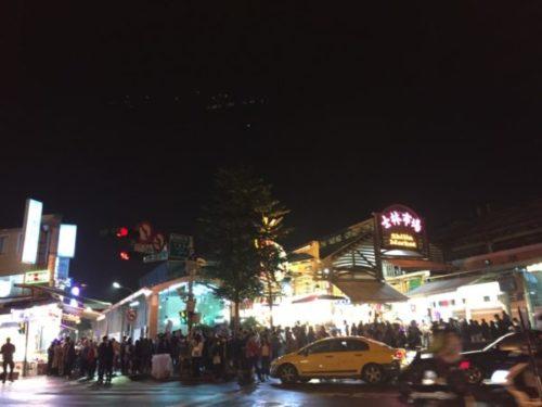 台北の士林市場の夜市