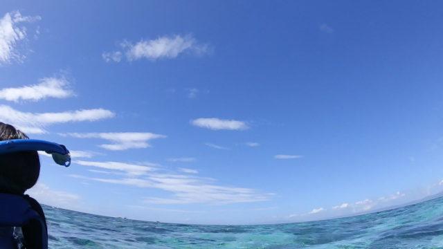 セブのアイランドホッピング中の海