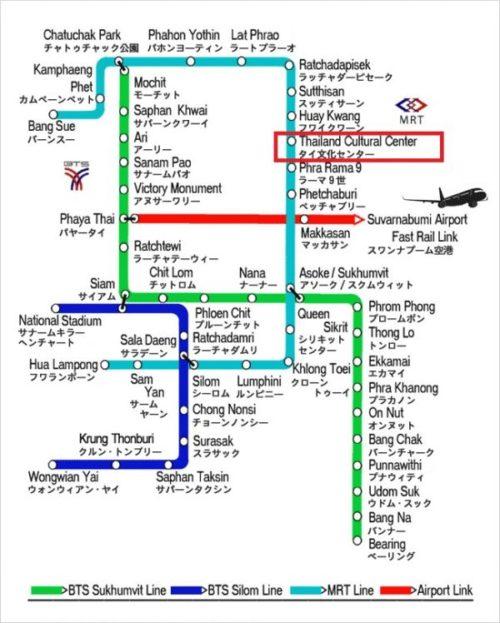 【バンコク】ラチャーダー鉄道市場のインスタ映え撮影スポットの行き方1