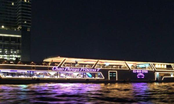 チャオプラヤ川のナイトクルーズ「プリンセス」でバンコクの夜を楽しもう1