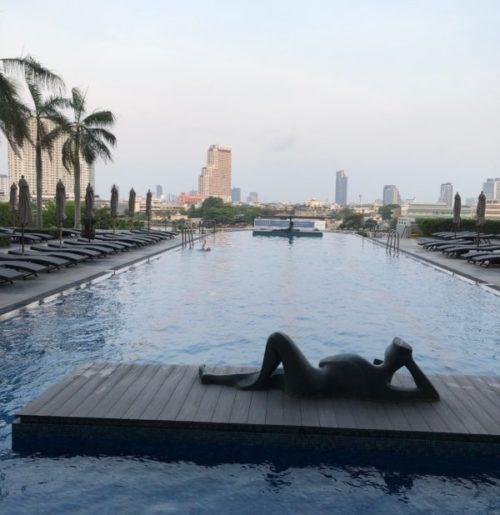 5つ星のホテル「チャトリウムリバーサイドバンコク」はプールが最高1