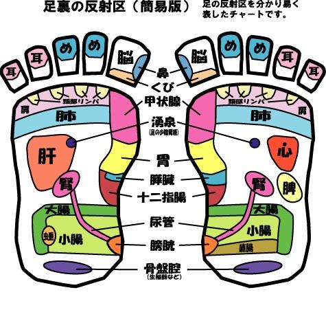 台湾式リフレクソロジーの足つぼ