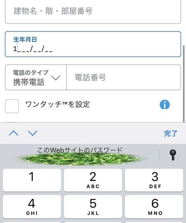 PayPal(ペイパル)の生年月日が入力できない場合の対処法2