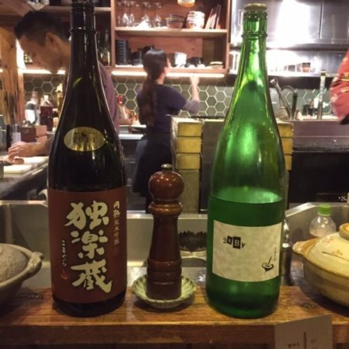 鎮座タキビヤ選りすぐりの日本酒1