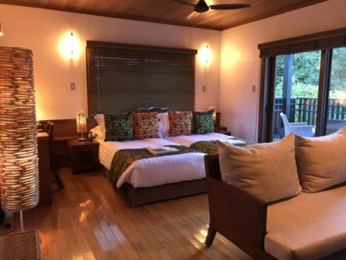 屋久島の高級リゾート「サンカラホテル」の部屋2